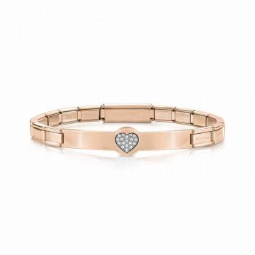 Heart Bracelet with Zircon