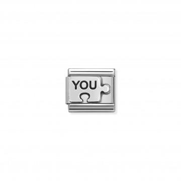 YOU puzzle - Argento e Smalto