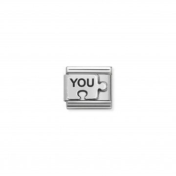 YOU puzzle - Silver and Enamel