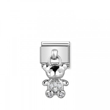 Teddy - Silver with Zircons