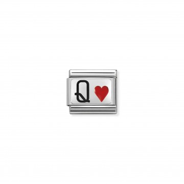 Queen Hearts - Silver and...