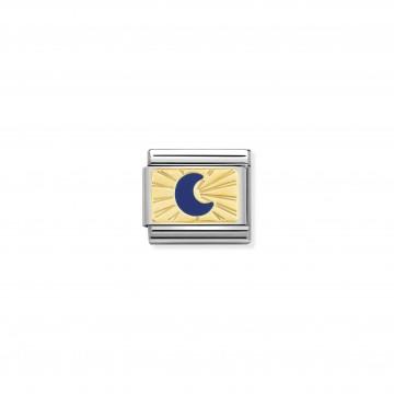 Luna Blu - Oro Giallo e Smalto