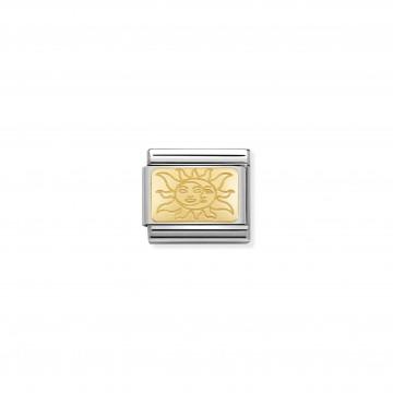 Placca Sole - Oro Giallo