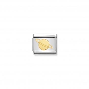 Saturno Pianeta - Oro Giallo