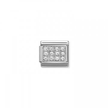 White Cubic Zirconia Pavè -...