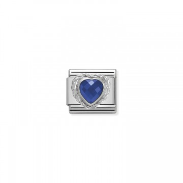 Blue Heart - Silver and Zircon