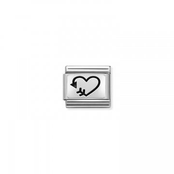 Heart with Arrow - Silver...