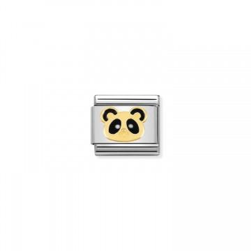 Panda - Gold and Enamel