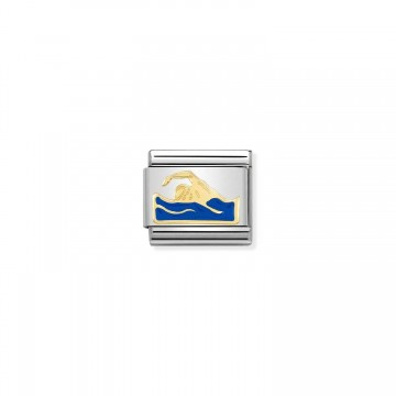 Nuotatore - Oro e Smalto