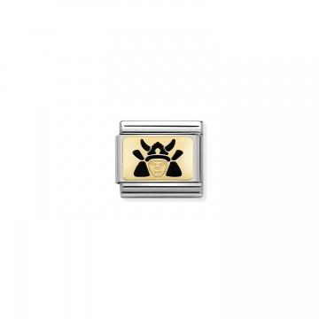 Samurai - Gold and Enamel