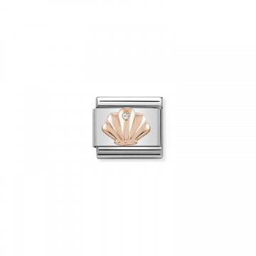 Shell - Rose Gold with CZ
