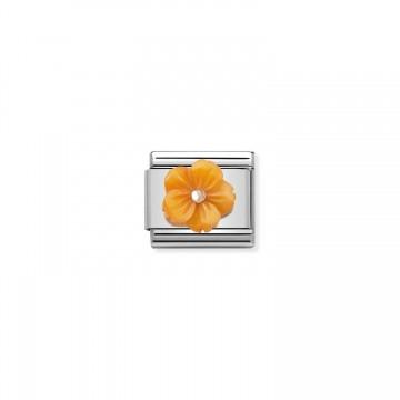 Orange Flower - Rose Gold...