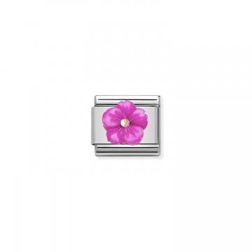 Fiore Fucsia - Oro Rosa con...