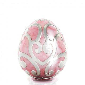 Easter Egg - with Enamel Pink