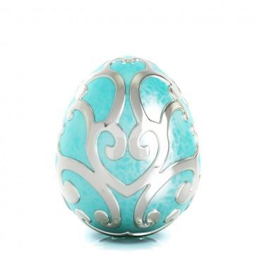 Uovo di Pasqua con smalto Aqua