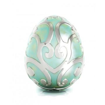 Easter Egg with Enamel Green