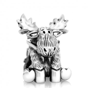 Sleigh Ride Moose - Winter...