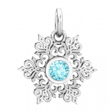 Winter Snowflake with CZ -...