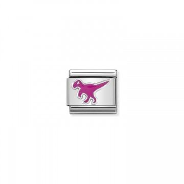 Dinosaur - Silver and Enamel