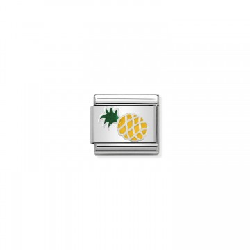 Pineapple - Silver and Enamel