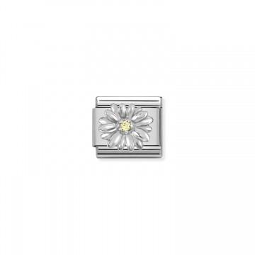Daisy - Silver, Yellow CZ