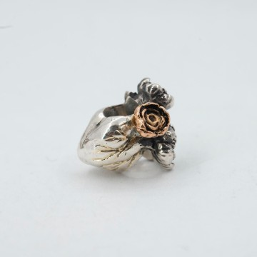 Heart with Flowers - Two-Tone