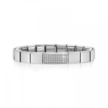 Steel Bracelet and White...