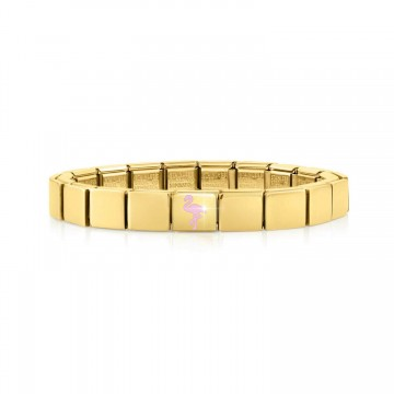 Bracelet Jaune avec Flamant...