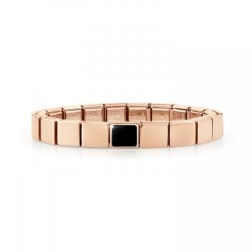 Pink Bracelet with Black Agate