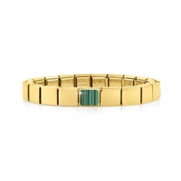 Yellow Bracelet with Malachite