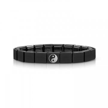 Black Bracelet with Yin Yang