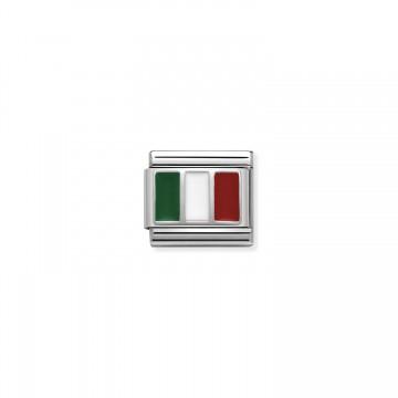 Bandera Italiana - Plata y...