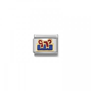 Caja de Regalo Azul - Oro...