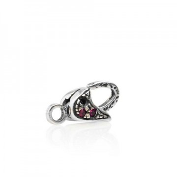 With red cubic zircon