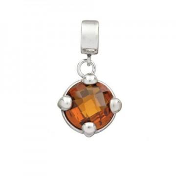Round Citrine quartz